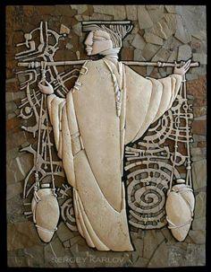 Stone mosaic by Sergey Karlov...FANTASTIC!!