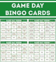 Free printable football bingo cards, perfect idea for Super Bowl party ...