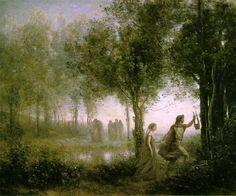 Jean-Baptiste Camille Corot: Orphée ramenant Eurydice des enfers (1861, oil on)