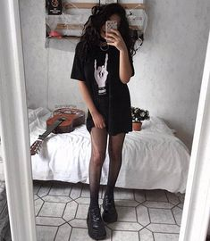 Edgy Outfits – Page 2843905424 – Lady Dress Designs Grunge Outfits, Edgy Outfits, Grunge Fashion, Gothic Fashion, 90s Fashion, Korean Fashion, Girl Outfits, Cute Outfits, Fashion Outfits