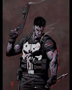 The Punisher, Punisher Comics, Marvel Dc Comics, Marvel Heroes, Captain Marvel, Comic Book Characters, Marvel Characters, Comic Character, Comic Books Art