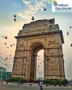 India Gate , New Delhi , India. - Mehar Mudgil - - India Gate , New Delhi , India. Tourist Places, Places To Travel, Places To Visit, Monuments, Places Around The World, Around The Worlds, India Gate, Indian Architecture, Ancient Architecture
