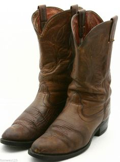 Ariat Sierra Saddle Roper Cowboy Boots size 9.5 D Brown Leather ...