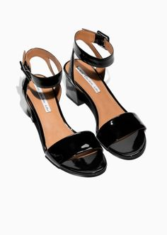 9307d5624 Other Stories image 2 of Patent Leather Sandalette in Black Wrap Shoes