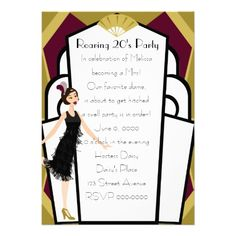 27 best glam art deco bridal shower invitations images on pinterest art deco doll invitation filmwisefo