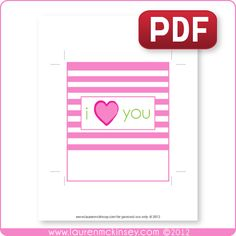 FREE Valentine's day heart candy bar wrappers - pdf file