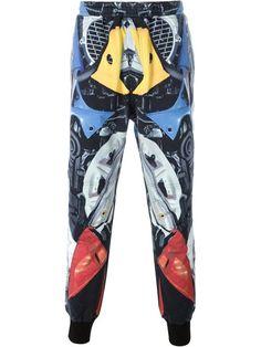 KTZ брюки с абстрактным принтом