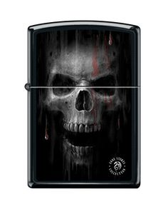 Zippo Anne Stokes Skull Black Matte Windproof Pocket Lighter NEW >>> More info could be found at the image url.(This is an Amazon affiliate link)