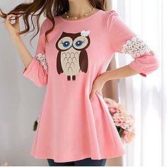 Cute Owl Blouse  - 2 colors - USD $ 16.79