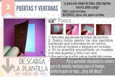 Pieza 2 y 3 Teaching Spanish, Interactive Notebooks, Places, Ideas, Study Tips, School, Spanish Class, Templates, Atelier