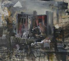 "Daniel Pitin – ""Theatre"", 2011, mixed media on canvas, 31 X 28 in, 72 X 81 cm"