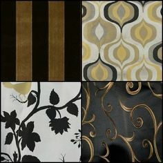 Black and Gold  fabric | Saintsational Black and Gold Home Decor