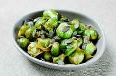 Brussels Sprouts with Onions and Squash Seeds Recipe on Chocolate & Zucchini