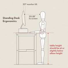 Standing desk ergonomics. good to know.