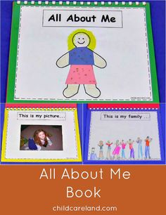 All about me book.  We do one page a day until the book is complete.