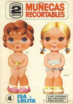 Recortable de muñecas Ed.Bruguera, Col.2 amigas - Pesquisa Google