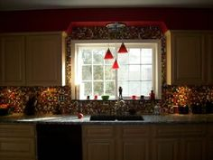 kitchens decorated with fiestaware | Your backsplash up and over the window is another option and you can ...