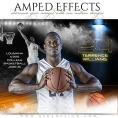 "Ashe Design | Amped Effects | Full Steam Basketball. Amp-up your photos with our custom effects. You'll be an instant hit in the market with our new ""Full Steam - Basketball"" Amped Effects Sports templates. We have 8x10 and 16x20 horizontal templates to showcase your sports photos."