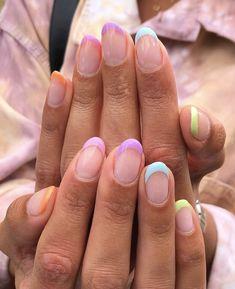 Minimalist Nails, Nail Swag, Nail Tip Designs, Cute Simple Nail Designs, Nail Designs For Kids, Art Designs, Beginner Nail Designs, Cute Simple Nails, Super Cute Nails
