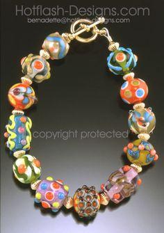 Retro Bead Sampler Bracelet