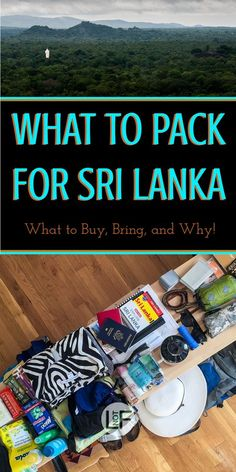 Packing for Sri Lanka can be complicated if you are not prepared. With this you will be prepared for all the weather and situations you could encounter!   LOST NOT FOUND   #PackingList #SriLanka #AsiaTravel