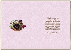 A Floral Basket Card Making Insert on Craftsuprint designed by Sandra Carlse - A very pretty floral birthday card making insert with a pastel pink patterned background. Thank you for showing an interest in my design. Please click on my name above to view more of my designs which include 3d Stepper Card Kits, 3d Easel Card Kits, Decoupage Cardmaking Sheets