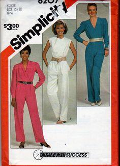 e89e6cbeb97c Simplicity Misses  Jumpsuit with Neckline Variation