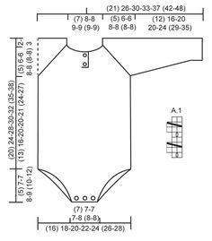 """Gebreid DROPS kruippak in boordsteek, wordt van boven naar beneden gebreid van """"Baby Merino"""". Maat prematuur – 4 jaar. ~ DROPS Design"""