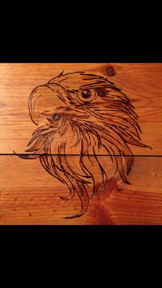"""Eagle"" Pyrography -Wood Burning by Alice Holcomb"