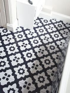 Rose Des Vents Red Vinyl Floor Tiles Laundry Rose And