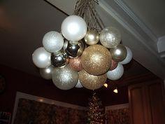 Ornament Chandelier.   Super Easy DIY