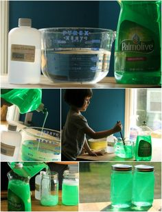 Homemade bubble solution - a great way to finish off a fun #summer. #shop #palmolive25ways