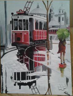 Benim yaptığım Taksim ve tranvay resmim:)