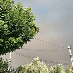 Le ciel côté quartiers Sud de Marseille. A l'opposé de l'incendie...