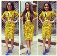 For Work Front Cut Out Nigerian Traditional Dresses Designs Clothes