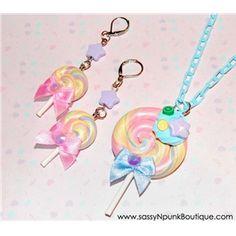 Fairy Kei Lollipop Jewelry Set