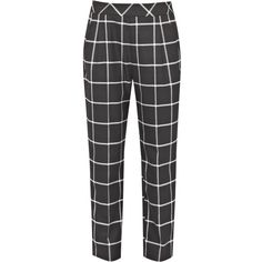 French Connection Ciao Checked Trousers, Black/White ($58) ❤ liked on Polyvore featuring pants, bottoms, trousers, jeans, pantalones, relaxed pants, black and white pants, checkered pants, black and white checkered pants and checked pants
