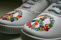 Zapatillas pintadas a mano Victorias pintadas