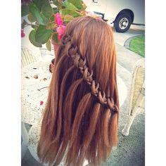 Instagram photo by @braidsbysophia (Sophia Shedd)   Iconosquare  knotted waterfall braid