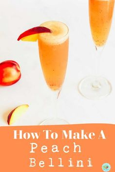 How to make a peach Bellini Cocktail with pink Prosecco, peach gin and a frozen peach puree to make summer cocktails and garden parties for groups easy #summercocktails #extraordinarychaos #cocktailparties Frozen Cocktails, Winter Cocktails, Easy Cocktails, Drinks, Bellini Cocktail, Champagne Cocktail, Peach Bellini Recipe, Cocktails To Make At Home, Peach Puree