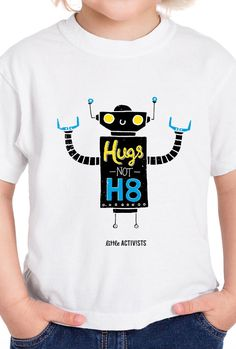Hugs Not H8 – Little Activists Remember the last time you were really mad or sad? What helped you feel better? Mostly likely a kind word or better yet – a big hug! We are all people. We all have feelings. We have good days and bad days. Hugs are a powerful form of defense.