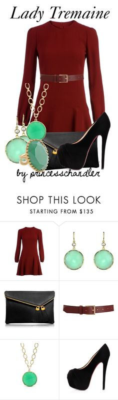 """""""Lady Tremaine"""" by princesschandler ❤ liked on Polyvore featuring RED Valentino, Irene Neuwirth, Henri Bendel, Barneys New York, Christian Louboutin and Stella & Dot"""