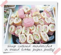Adorable picnic party, great party food