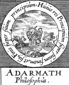 ALQUIMIA VERDADERA: Emblema 38. Adarmath, filósofoEl principio de esto está relacionado con su fin y su fin con su principio