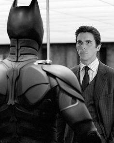 Bruce Wayne meet the Dark Knight.
