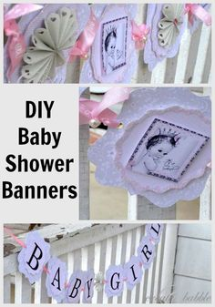 DIY Baby Shower Banners  createandbabble.com