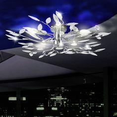 Chrom Deckenleuchte Deckenlampe Wohnzimmer Flur Beleuchtung Lampe Licht Leuchte In Bro Schreibwaren Brombel