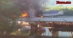 Tai nạn liên hoàn tại Thừa Thiên Huế khiến hai xe cháy rụi