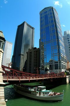 Chicago River - Chicago Boat Tour. One of my fav things I've done in Chicago