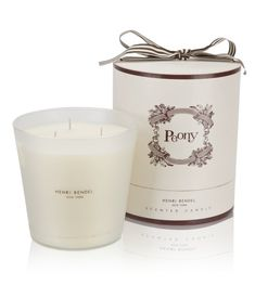 HENRI BENDEL LUXE PEONY CANDLE Indulge yourself or someone special with the deluxe version of our best-selling luxury candle, packaged and ready for gifting in a signature presentation box. $65.00